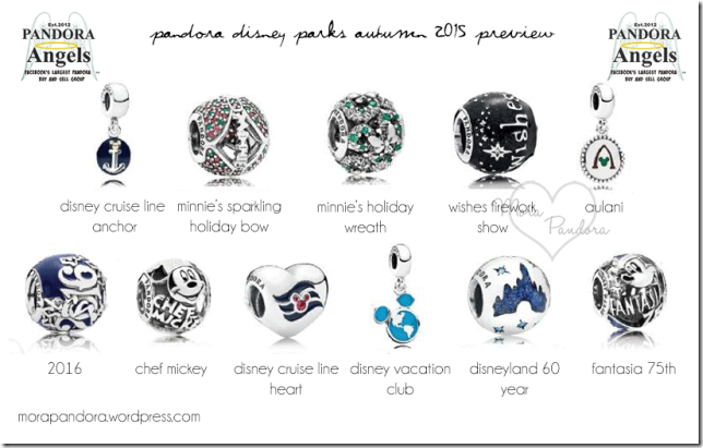 Disney Park Exclusive Pandora Charms Fall 2015 Preview Is Here!!
