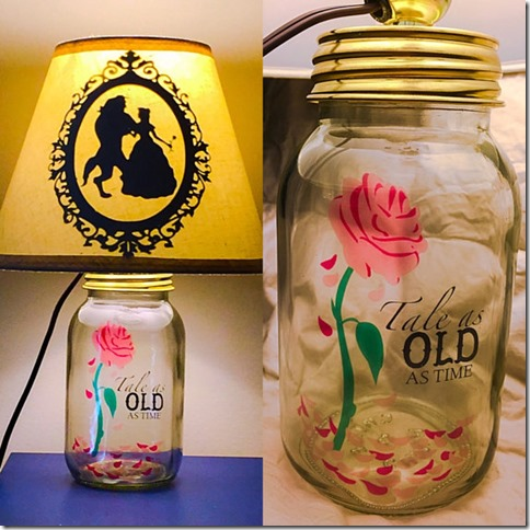 how to make a lamp out of mason jars