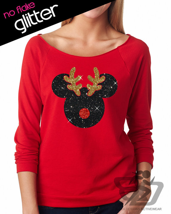 glitter holiday shirts perfect for showing your disney side this season