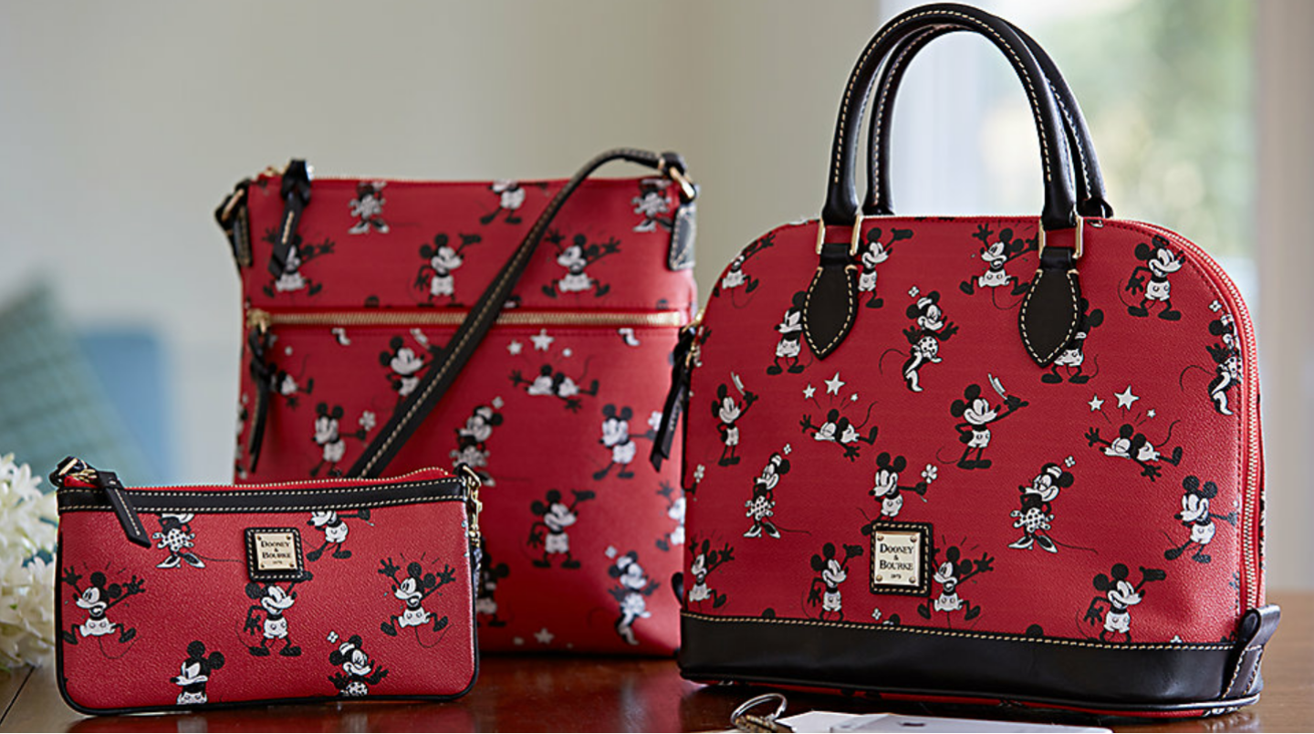 New Retro Mickey Amp Minnie Comic Print Dooney And Bourke