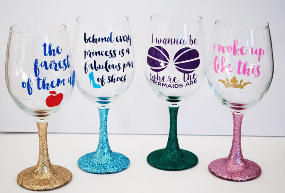 Customized Vinyl Stickers For Wine Glasses
