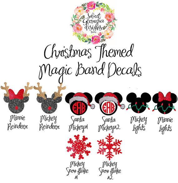 Christmas MagicBand Decals