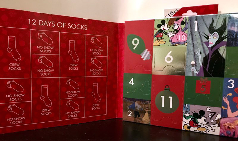 The 12 Days Of Disney Socks Advent Calendar Is A Dream