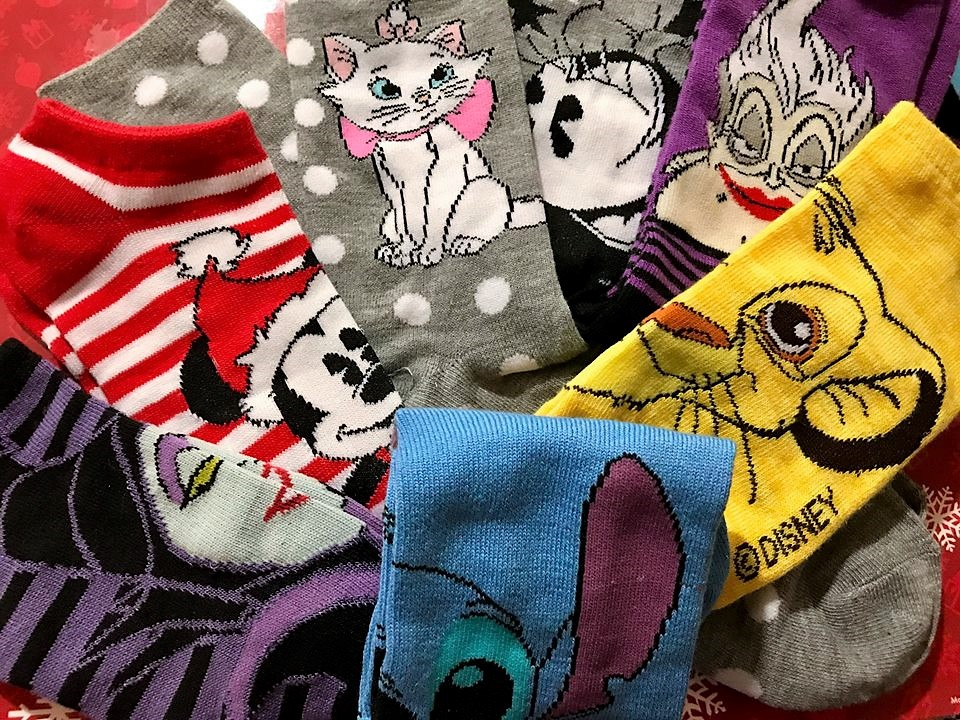 12 Days of Disney Socks collection