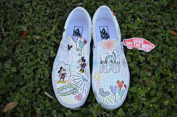 Dooney and Bourke Sketch Disney inspired Sneakers
