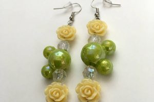 Flower and Garden Inspired Mickey Mouse Earrings