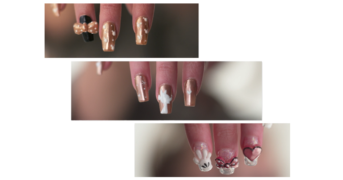 Rose Gold Minnie Manicures