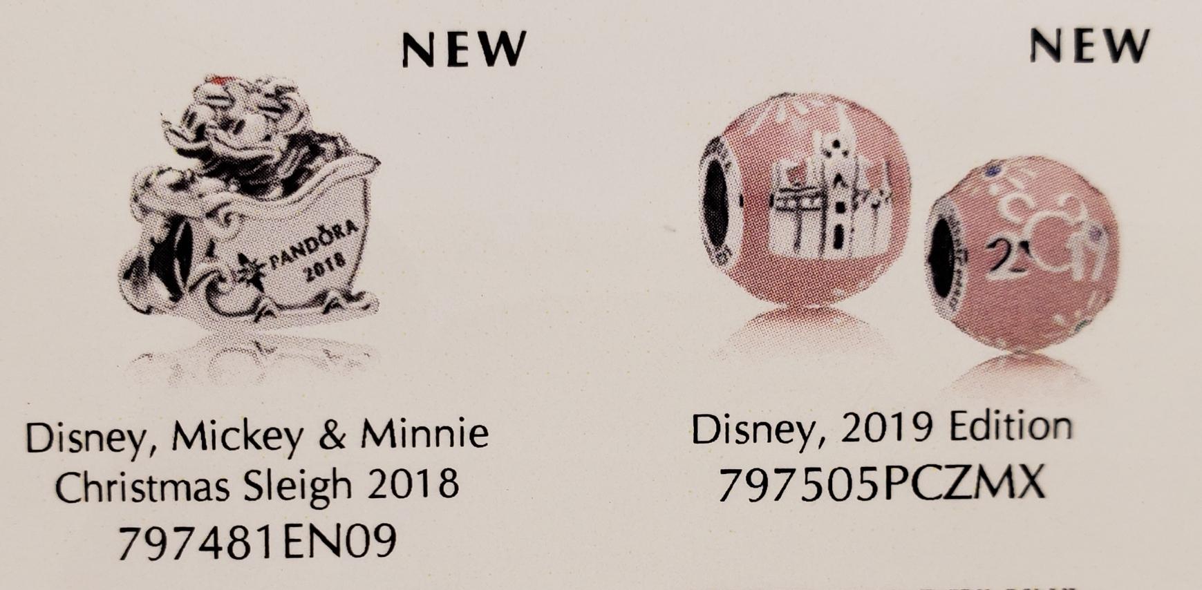 Park Exclusive Disney Pandora Charms