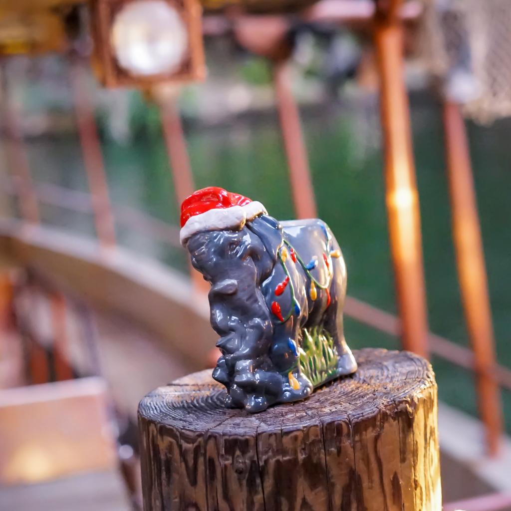 Holiday Elephant Tiki Mug