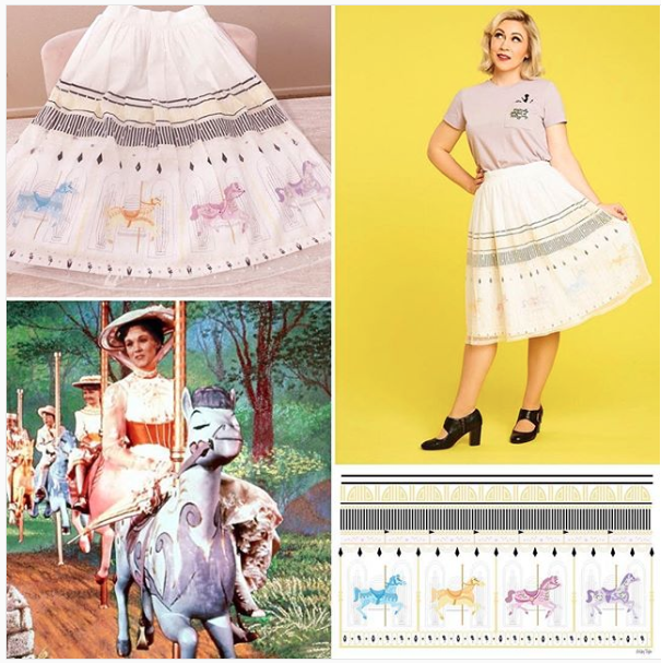 Mary Poppins Carousel Skirt