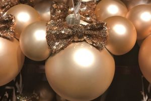 Rose Gold Minnie Ornament