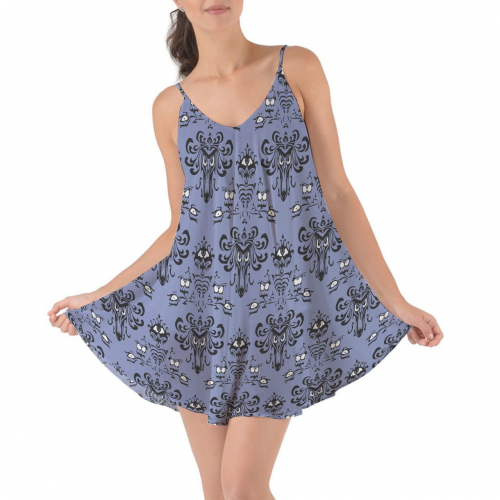 Haunted Mansion Wallpaper Cover Up Dress
