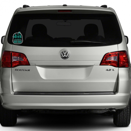 Doom Buggy Sticker on Car