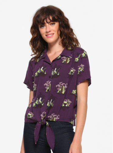 Maleficent Button Up