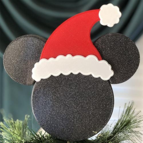 Santa Mickey Tree Topper