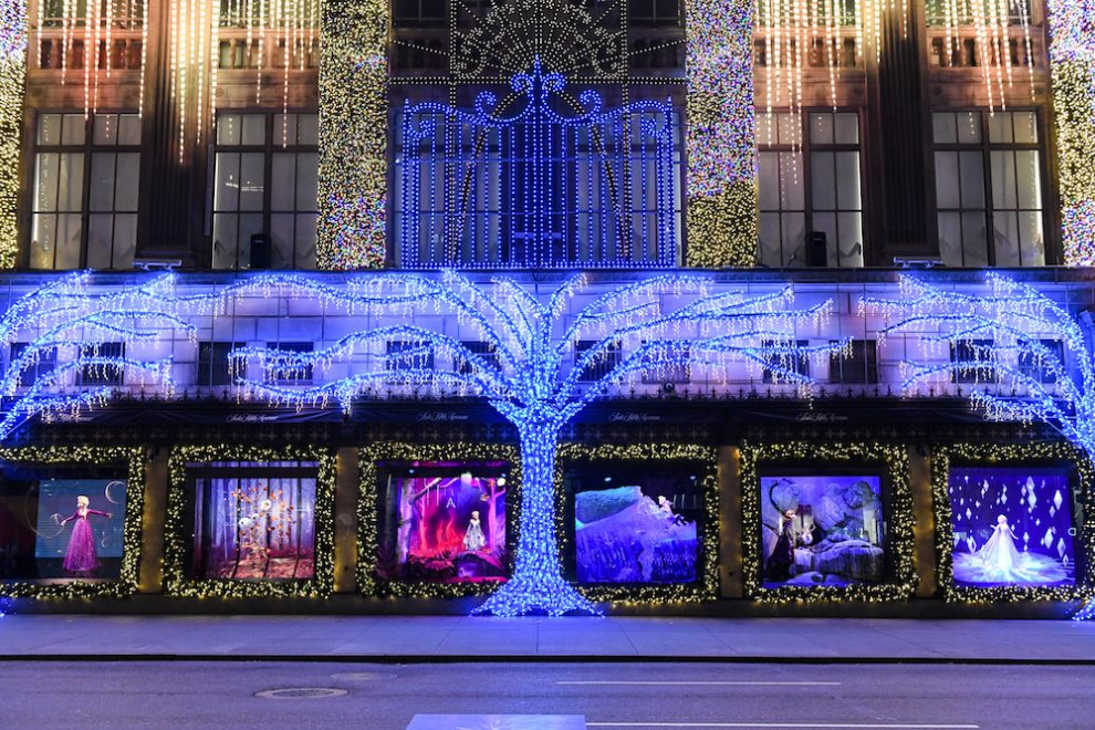 Frozen 2 Holiday Windows