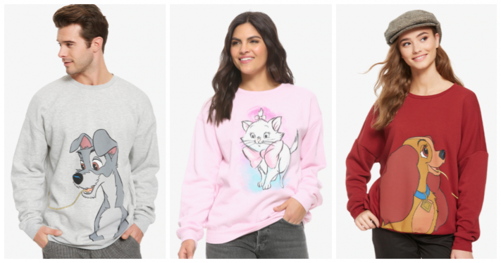 Disney Cats And Dogs Sweatshirts