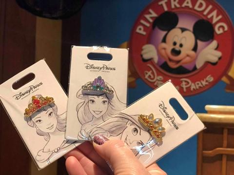Disney Princess Tiara Pins