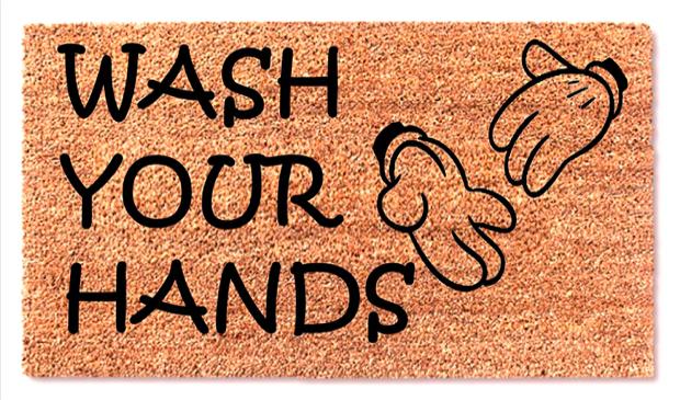 Mickey Wash Your Hands Doormats