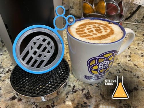 Disney Coffee Stencil