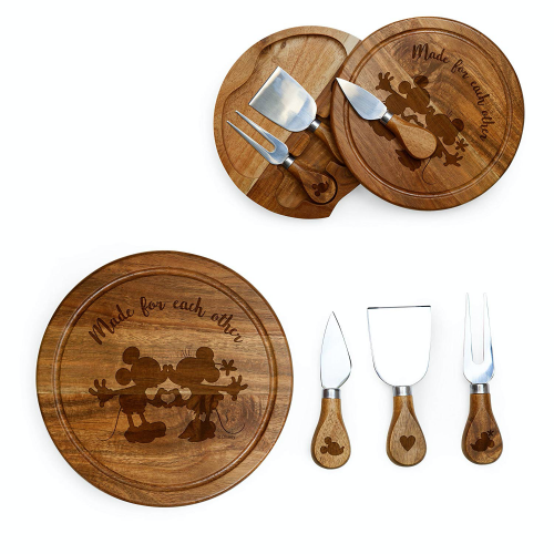 Mickey and Minnie Cheese Board Set
