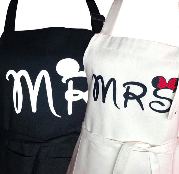 Mr. And Mrs. Apron Set