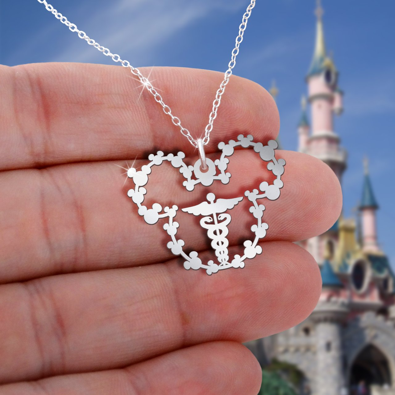 Caduceus Mickey Necklace
