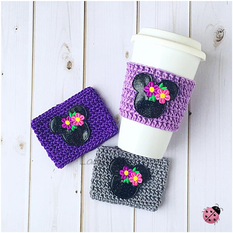 Spring Minnie Coffee Cozies