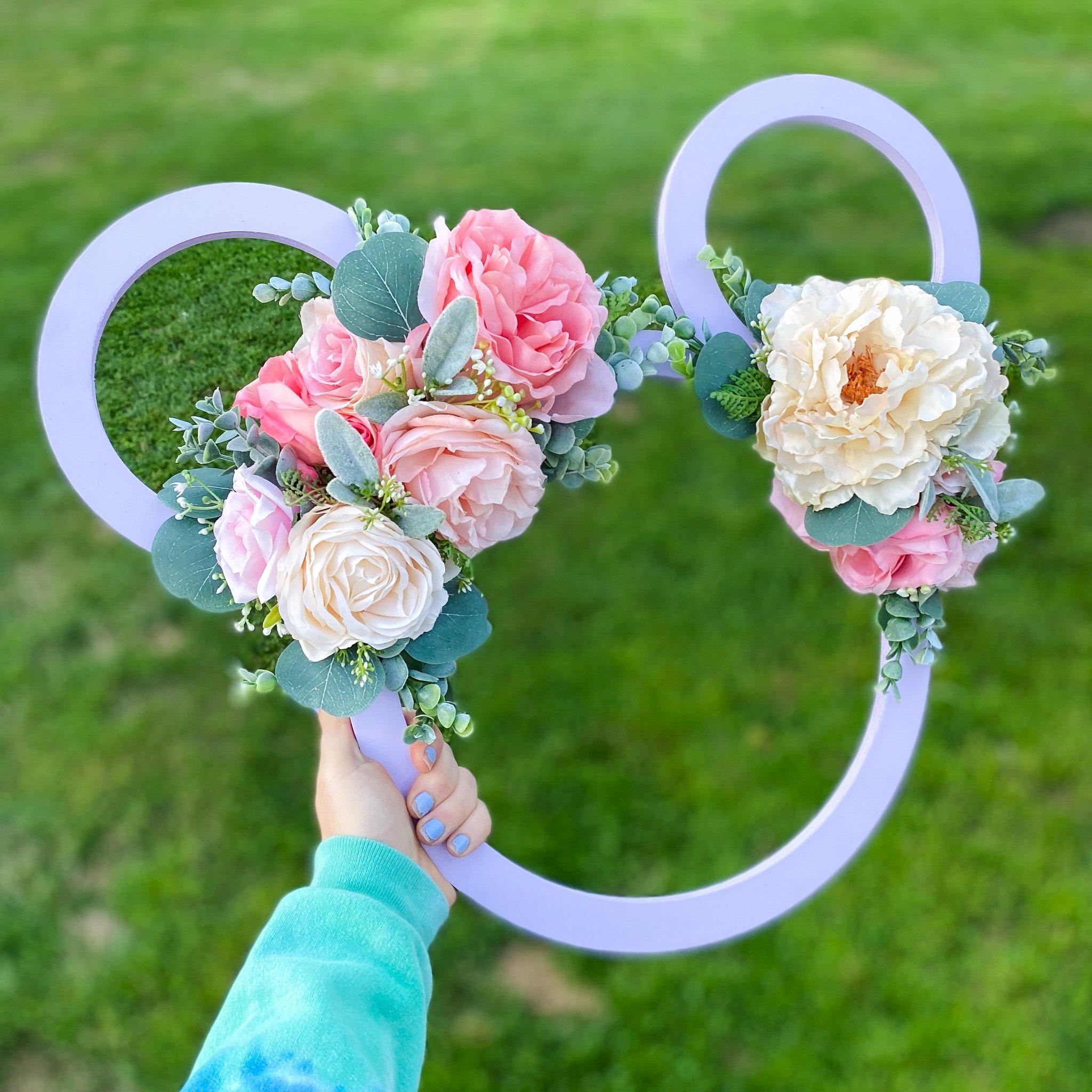 Vintage Floral Mickey Wreaths