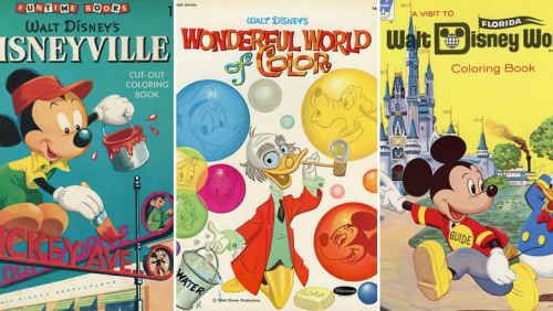 Coloring Books From The Walt Disney Archives
