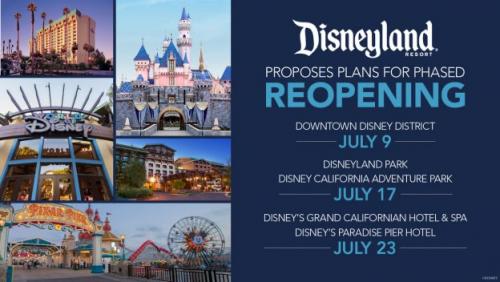 Disneyland Phased Reopening