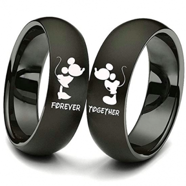 Matching Minnie and Mickey Rings