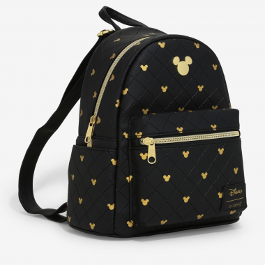 Black And Gold Mickey Loungefly Mini Backpack