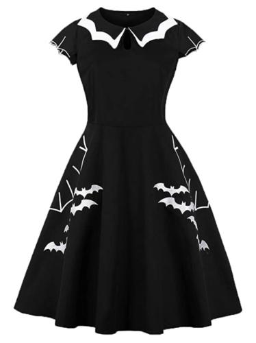 Bat And Spider Web Dress
