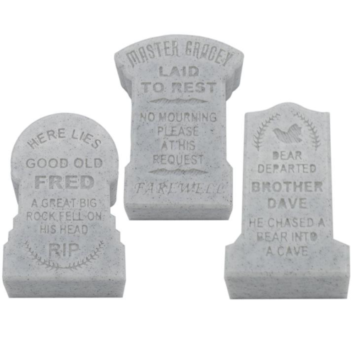 Haunted Mansion Tombstone Containers