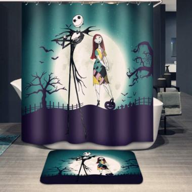 Jack and Sally Shower Set