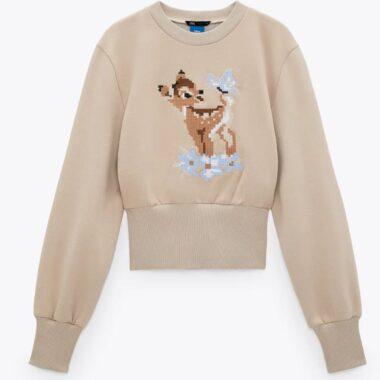Zara Bambi Sweatshirt Front
