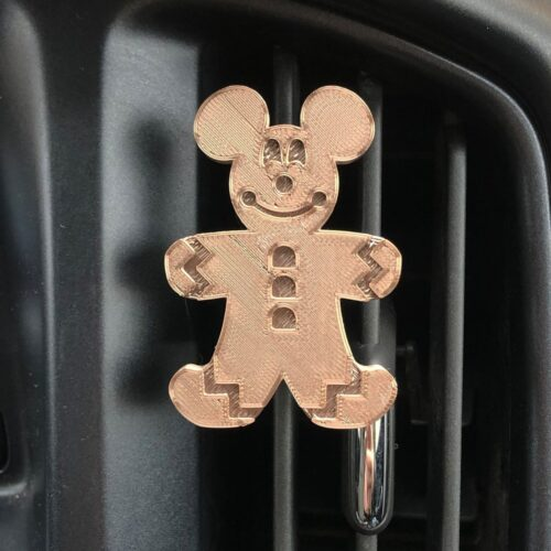 Gingerbread Mickey 3-D printed mask holder