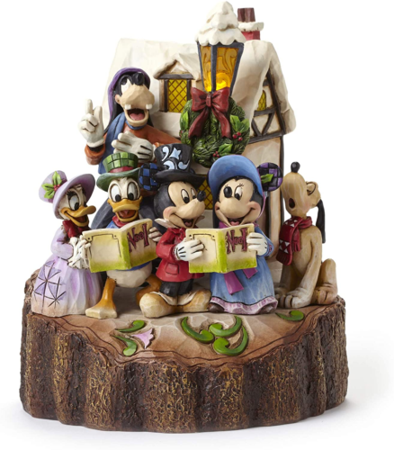 Mickey And Friends Caroling Figurine