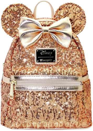 Loungefly Gold Sequin Mini Backpack