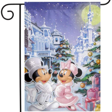 Mickey And Minnie Garden Flag