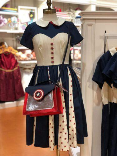 Captain America Dress and Purse