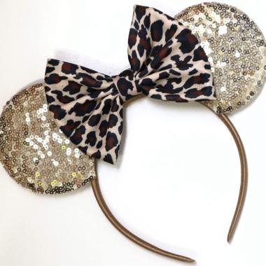 Gold Leopard Minnie Ears