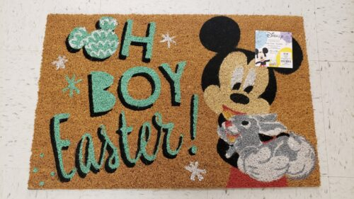 Mickey and Minnie Easter doormats
