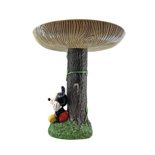 Hand-painted Mickey Mouse Birdbath
