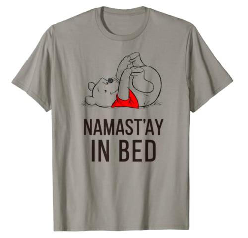 Namast'ay In Bed Pooh Tee
