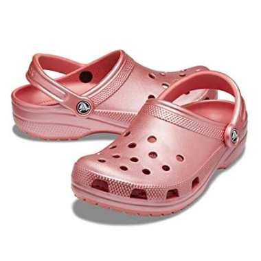 Metallic Pink Crocs