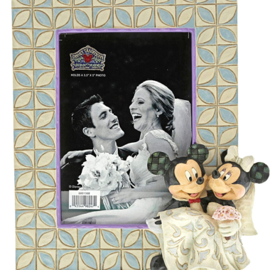 Mickey and Minnie Wedding Picture Frame