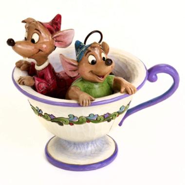 Jaq and Gus Teacup Figurine