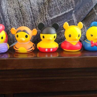 Disney character rubber ducks